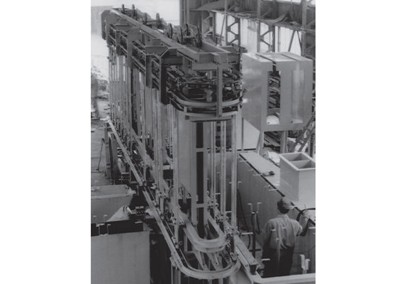 Scene of automatic machine assembly
